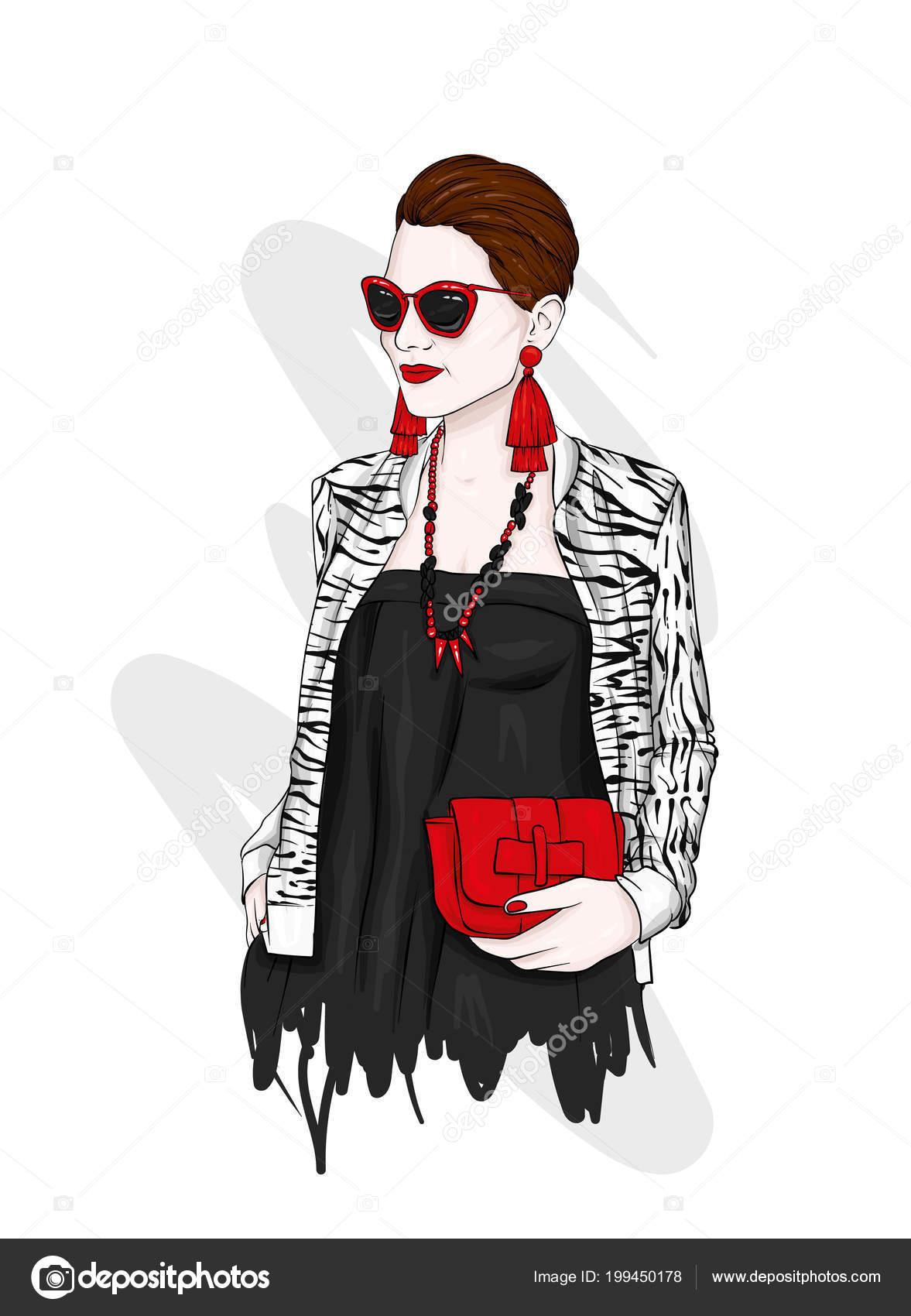 Mujer y estilo vestidos