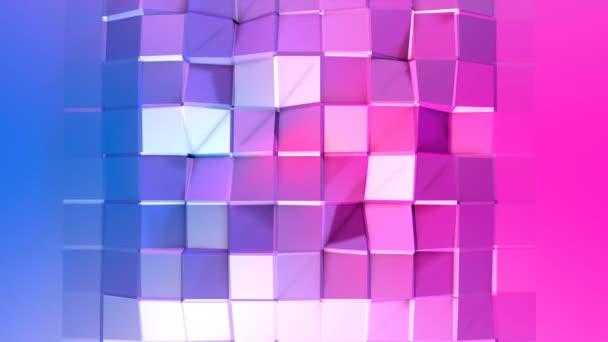 4 k čištění nízká poly animované pozadí ve smyčce. Bezproblémovou 3d animace v moderní geometrické stylu s moderní barvy přechodu. Kreativní a jednoduché pozadí. Červené modré barvy přechodu 13