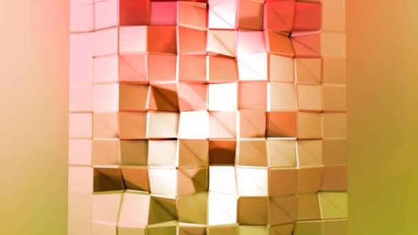4 k čištění nízká poly animované pozadí ve smyčce. Bezproblémovou 3d animace v moderní geometrické stylu s moderní barvy přechodu. Kreativní a jednoduché pozadí. Červená žlutá barvy 3