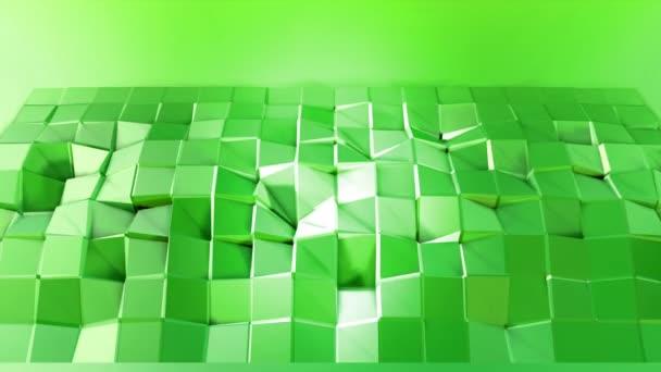4 k čištění nízká poly animované pozadí ve smyčce. Bezproblémovou 3d animace v moderní geometrické stylu s moderní barvy přechodu. Kreativní a jednoduché pozadí. Zelená žlutá přechod, kopie prostor 1