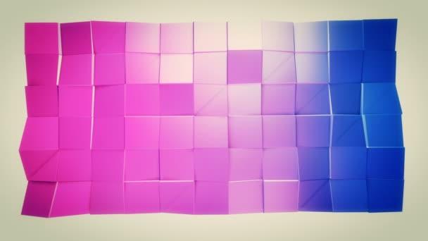 4k čisté geometrické animované pozadí ve smyčce, nízké poly styl. Bezproblémovou 3d animace s moderní barvy přechodu. Creative jednoduché modré červené pozadí s kopie prostoru. 12