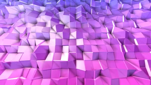 4k clean low poly 3d animation in loop. Seamless 3d background in modern geometric style low poly with bright gradient colors
