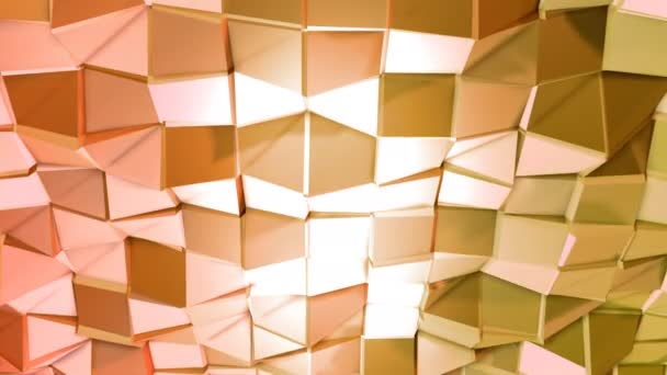 Varrat nélküli 3D-s geometriai háttér modern geometrikus stílus alacsony poly színátmenet élénk színekkel. 4 k tiszta vörös narancs alacsony poly 3d animáció-hurok. Durian Dragon sík felületre 5