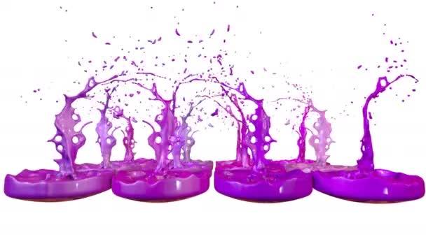 3D render folyékony Splash jar, mint a festék a sound-hangszóró. színes 3d kompozíció tánc folyadék. 1