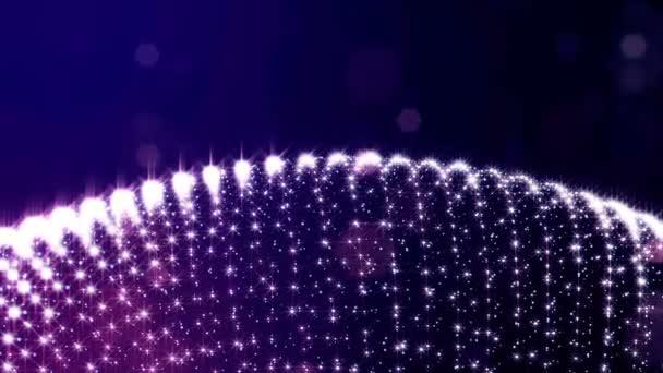 3D vykreslení smyčky sci-fi animace s záře částice formou postupných kroužky struktur. Plynulé záběry jako tmavě modré digitální abstraktní pozadí s částicemi, Hloubka ostrosti, bokeh. Motion grafika 6
