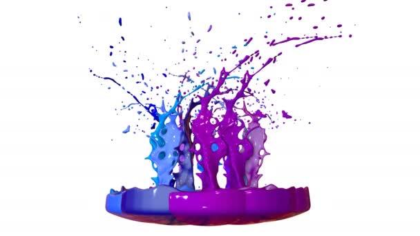 3D render folyékony Splash jar, mint a festék a sound-hangszóró. színes 3d kompozíció festékkel. lédús világos folyadék összetételét. Kék árnyalatok 1