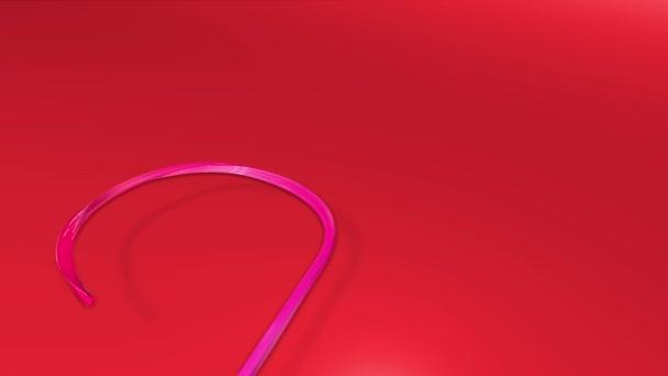 Lesklé slavnostní stuha tvoří symbol vánoční stromeček. 3D vykreslení vánoční světlé svěží kompozice. 3D nový rok složení. 9
