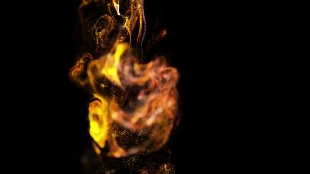 4k háttér, animáció, összetett részecskék szimulációs légtömegáramlásoknál turbulencia patakok, forgat, curl, viszkózus folyadék, lassítva a ezervoárok az alfa-csatorna luma Matt kérelmet nyújt be. tűz a színes 18