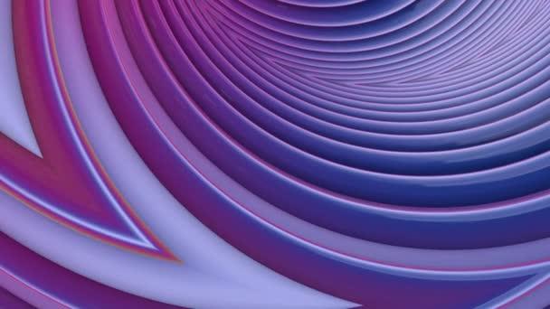 Oblíbená barva přechodu pruhy přesunout cyklicky. Abstraktní 3d hladké bezešvé světlé pozadí v rozlišení 4k. Jednoduchá geometrie v kreslené kreativní styl. Smyčky animace. Křivky 6