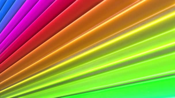 Duhové vícebarevné pruhy tah cyklicky. Abstraktní 3d hladké světlé pozadí v rozlišení 4k. Jednoduchá geometrie v kreslené kreativní styl. Smyčky hladké animace. Linka 38