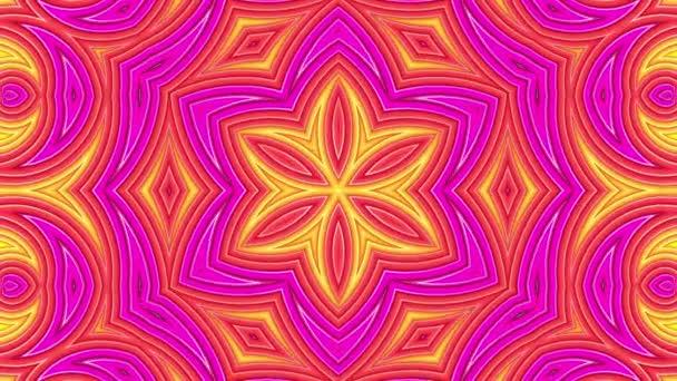 Szivárvány sokszínű csíkok mozognak ciklikusan egyszerű geometriai rajzfilm kreatív stílus. Absztrakt 3d zökkenőmentes világos háttér 4k. Végtelenített sima animáció. Kaleidoszkóp
