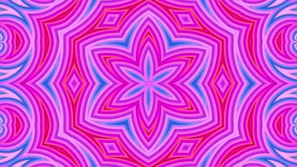Abstraktní 3D bezešvé pozadí v 4 KB s červenými modrými pásky. Červené modré pruhy se pohybují cyklicky ve zjednodušené geometrii kresleném stylu. Plynulá animace. 24 kaleidoskop