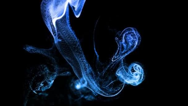 particelle di bagliore come effetto inchiostro di advection, sciogliere in acqua. blu ver. 18