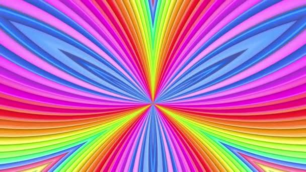 Duhové vícebarevné pruhy se pohybují cyklicky. 3