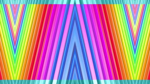 Rainbow multicolored stripes move cyclically. 4