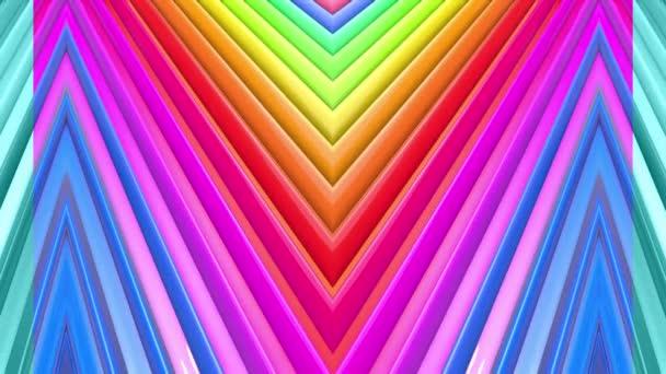Duhové vícebarevné pruhy se pohybují cyklicky. 5