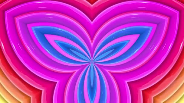 Duhové vícebarevné pruhy se pohybují cyklicky. 10