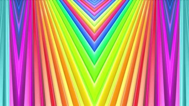 Duhové vícebarevné pruhy se pohybují cyklicky. 14