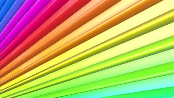 Duhové vícebarevné pruhy se pohybují cyklicky. 41
