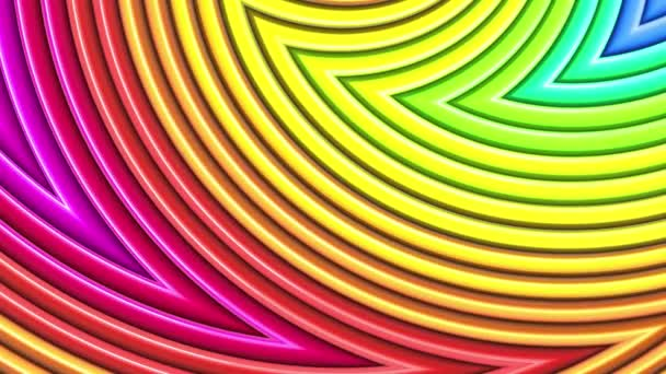 Rainbow multicolored stripes move cyclically. 58