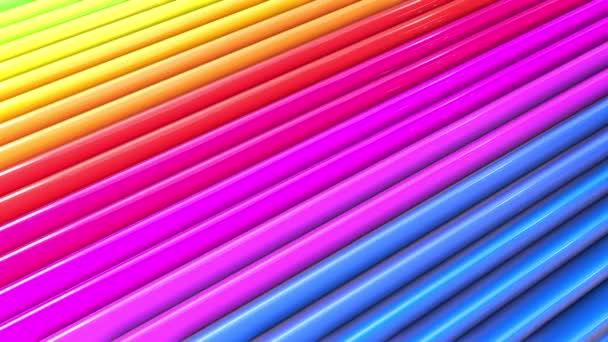 Duhové vícebarevné pruhy se pohybují cyklicky. 63