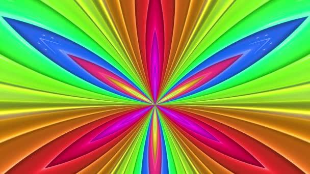 Duhové vícebarevné pruhy se pohybují cyklicky. 66
