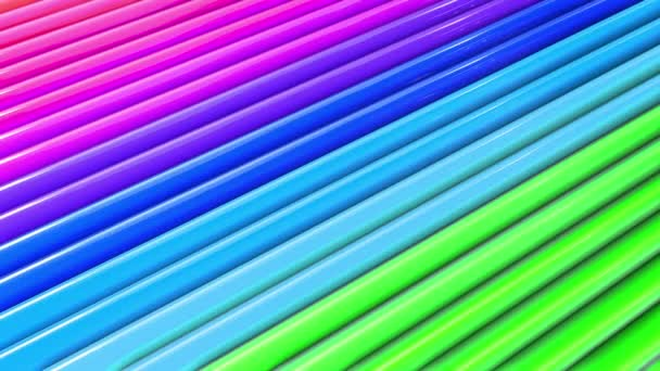 rainbow colors abstract stripes, background in 4k with bright shiny paint. Smooth seamless animation with gradient color. Straight lines 19