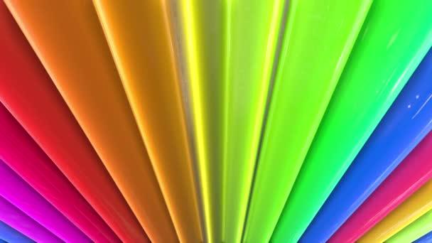 duhové barvy abstraktní pruhy, pozadí 4 k s jasně lesklou barvou. Hladké plynulé animaci s barevným přechodem. Rovné čáry 20