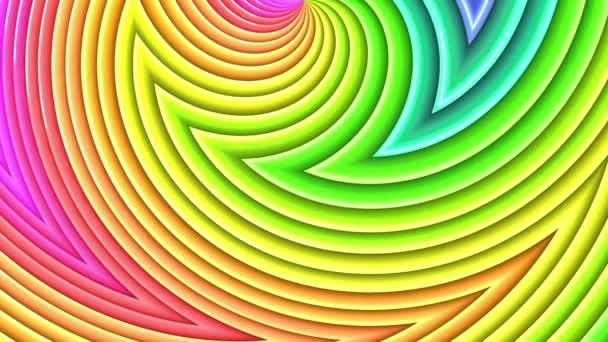 duhové barvy abstraktní pruhy, pozadí 4 k s jasně lesklou barvou. Hladké plynulé animaci s barevným přechodem. Zakřivené čáry 20