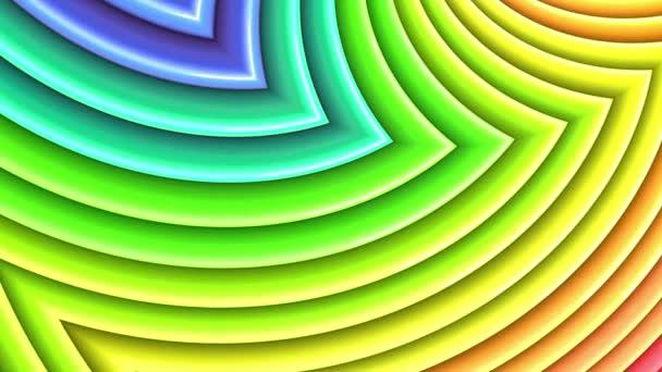duhové barvy abstraktní pruhy, pozadí 4 k s jasně lesklou barvou. Hladké plynulé animaci s barevným přechodem. Zakřivené čáry 21