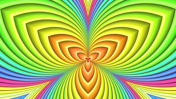 duhové barvy abstraktní pruhy, pozadí 4 k s jasně lesklou barvou. Hladké plynulé animaci s barevným přechodem. symetrické struktury 3
