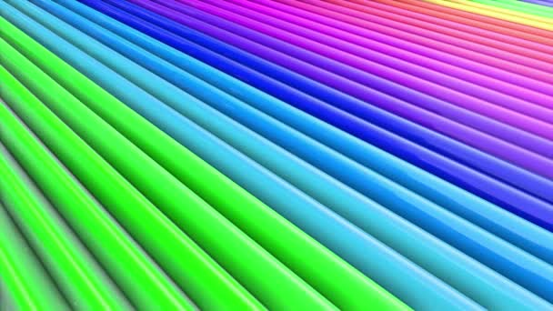 rainbow colors abstract stripes, background in 4k with bright shiny paint. Smooth seamless animation with gradient color. Straight lines 23