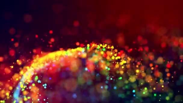Abstraktní třpyt 4 k pozadí s lesklou bokeh, jiskřící mnohobarevné částice pro zářivou sváteční událost. Použijte vlečný matný jako alfa kanál. Mělká Hloubka pole. 68