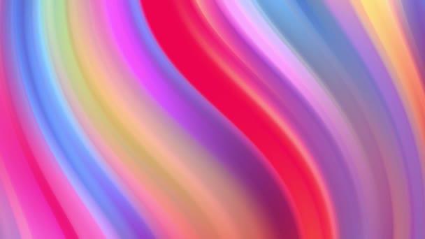 Přechod duhových barev se cyklicky posouvá ve smyčce. Je to 4k krásné abstraktní pozadí s bezproblémovou smyčkou animace pro rekreační prezentace nebo trendy věci v pohybu stylu designu.