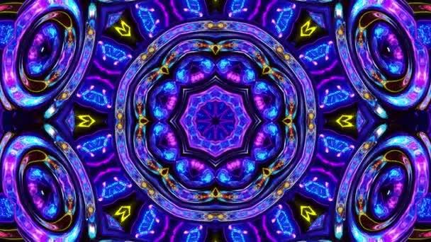 Stylový 3D smyčkový abstraktní bg s vlnitou strukturou. Tekutý symetrický iridescentní vzor jako kaleidoskop s vlnami brilantního tekutého skla s krásnými barvami gradientu. 4k