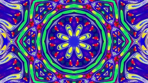 Stílusos 3D hurkos absztrakt bg hullámos szerkezettel. Folyékony szimmetrikus irizáló minta, mint a kaleidoszkóp ragyogó folyékony üveg hullámokkal, gyönyörű gradiens színekkel. 4k