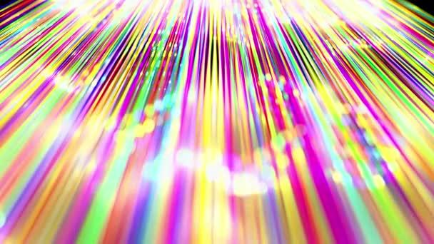 Abstraktní pozadí záře vícebarevné čáry tvoří povrch. Krásné zakřivené čáry jako krásné smyčka kreativní pozadí v 4k