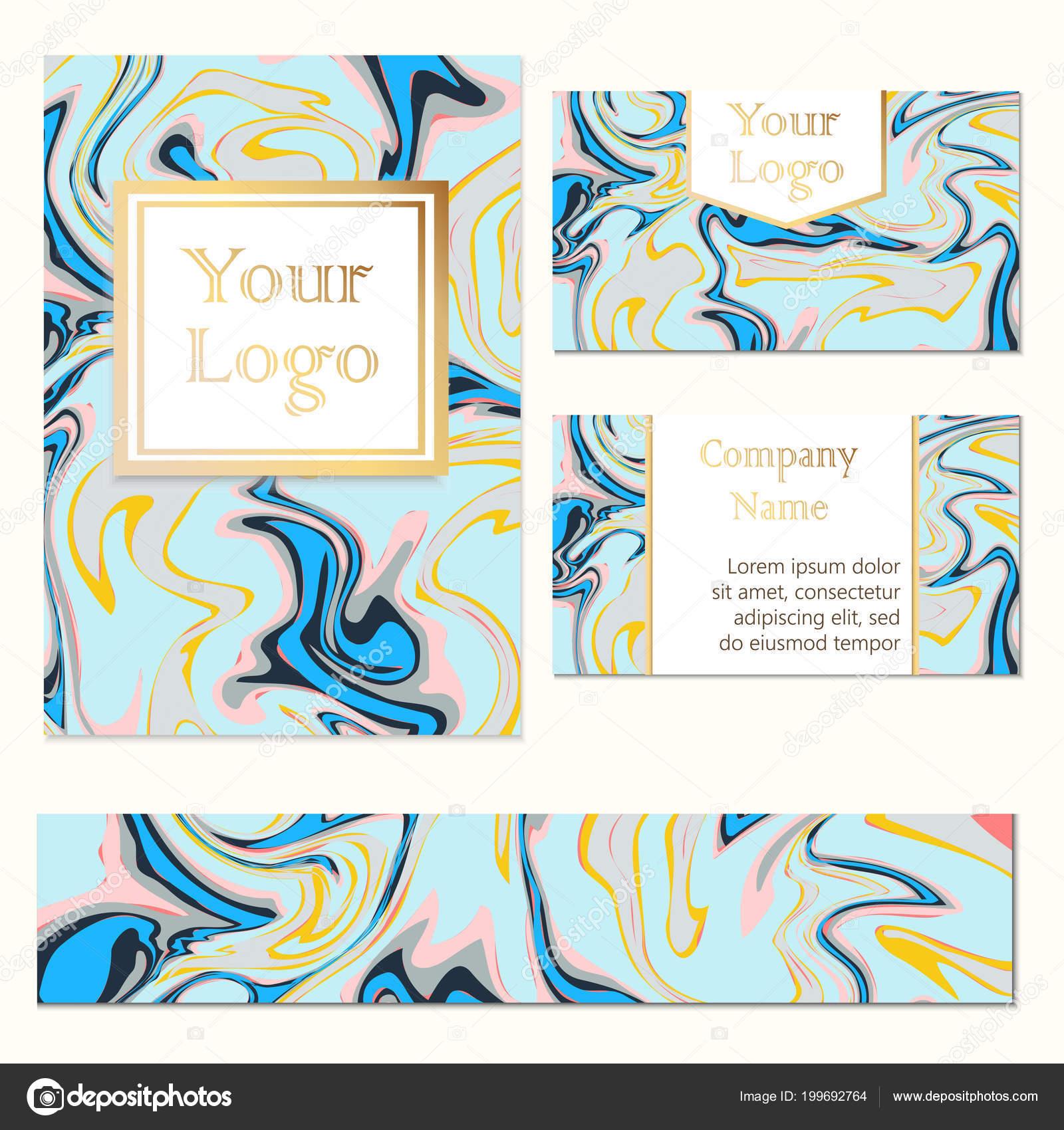 Carte De Visite Brochure Dpliant Et Bannire Avec Texture Marbre Modle Luxe Illustration Vectorielle Vecteur Par Valedella