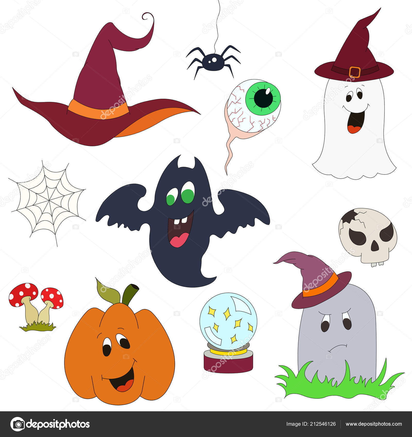 hand drawn vector halloween greeting card flyer banner poster