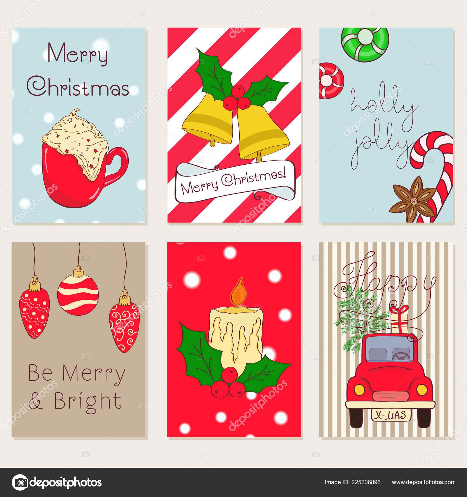 Weihnachtskarten Einladung.Handgemalte Weihnachtskarten Kollektion Frohe Weihnachten Und