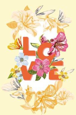 Vector Flower invitation card template design.