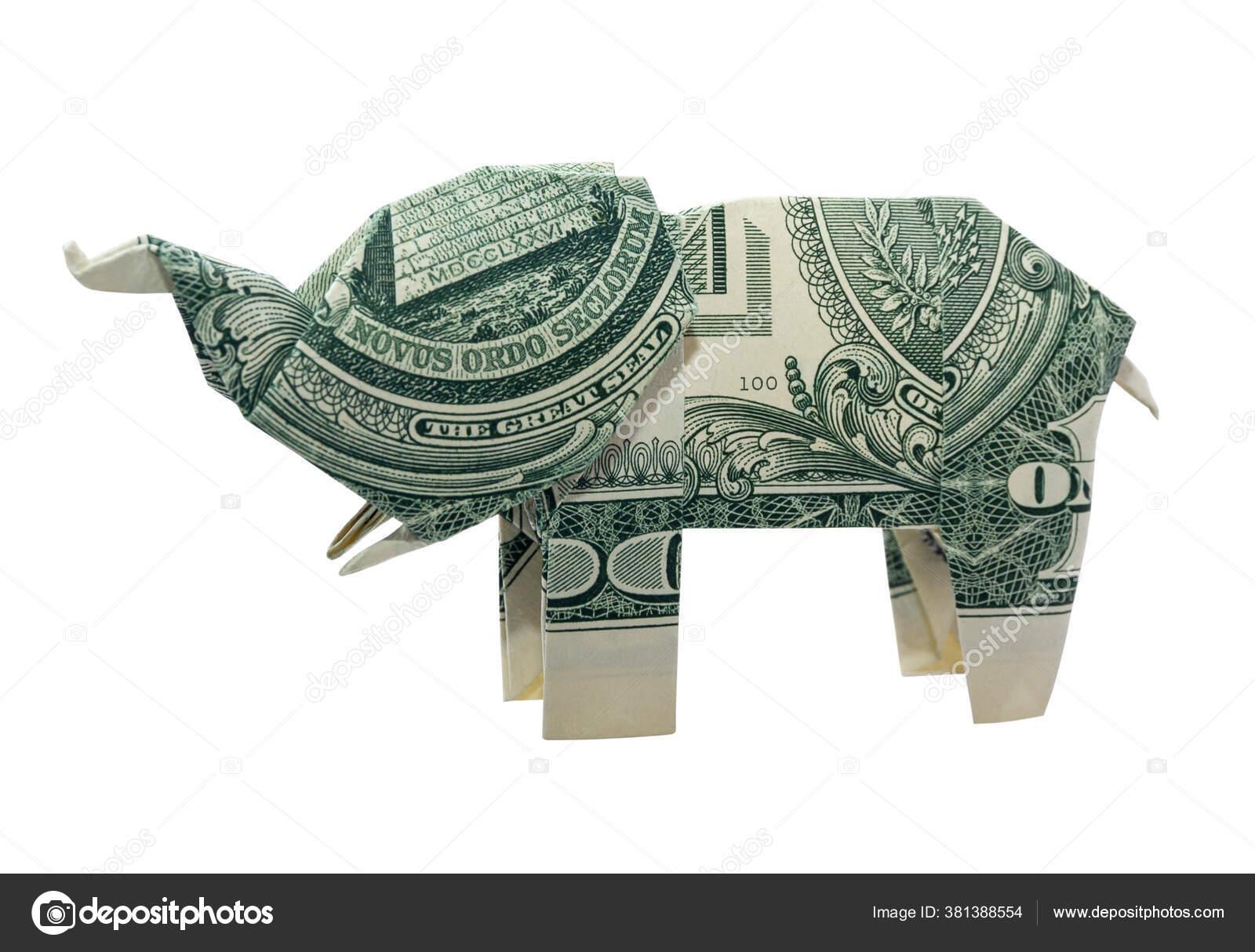 Origami Dollar ELEPHANT 3D Skulptur Geld handgemachte Papier   Etsy   1214x1600
