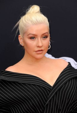 singer Christina Aguilera at the 2018 Billboard Music Awards held at the MGM Grand Garden Arena in Las Vegas, USA on May 20, 2018.