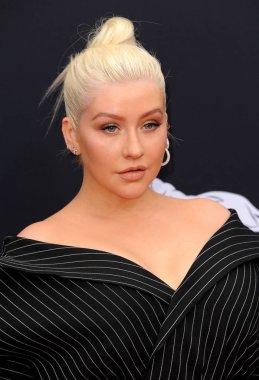 singer Christina Aguilera at the 2018 Billboard Music Awards held at the MGM Grand Garden Arena in Las Vegas, USA on May 20, 2018.