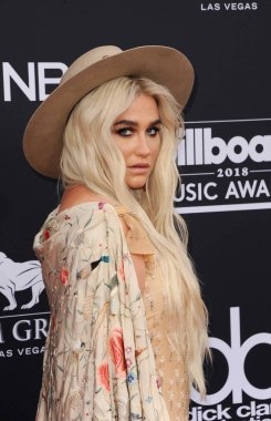 singer Kesha at the 2018 Billboard Music Awards held at the MGM Grand Garden Arena in Las Vegas, USA on May 20, 2018.