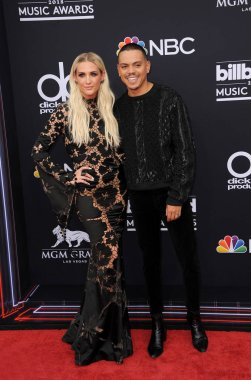 Ashlee Simpson and Evan Ross at the 2018 Billboard Music Awards held at the MGM Grand Garden Arena in Las Vegas, USA on May 20, 2018.