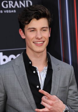 singer Shawn Mendes at the 2018 Billboard Music Awards held at the MGM Grand Garden Arena in Las Vegas, USA on May 20, 2018.