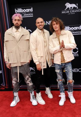 musicians KEVI, Matthew Russell and Trevor Dahl of Cheat Codes at the 2018 Billboard Music Awards held at the MGM Grand Garden Arena in Las Vegas, USA on May 20, 2018.