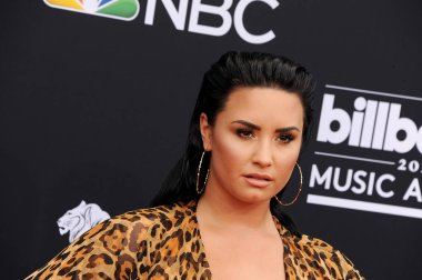 singer Demi Lovato at the 2018 Billboard Music Awards held at the MGM Grand Garden Arena in Las Vegas, USA on May 20, 2018.