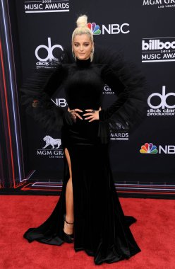 singer Bebe Rexha at the 2018 Billboard Music Awards held at the MGM Grand Garden Arena in Las Vegas, USA on May 20, 2018.